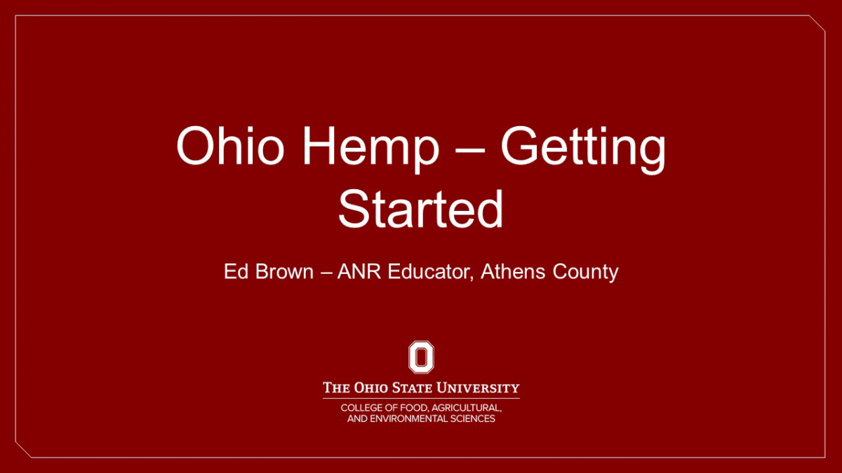Getting Started with Industrial hemp