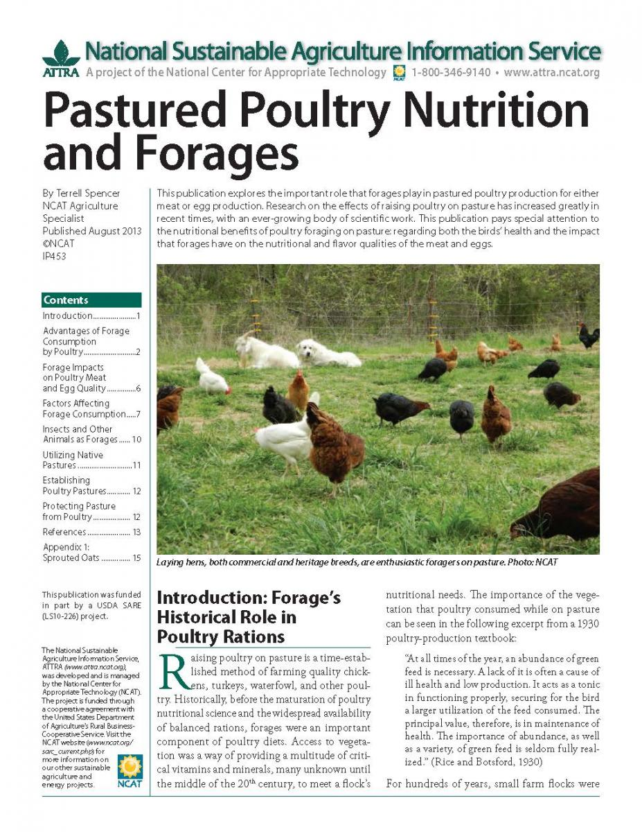 Forages for Poultry