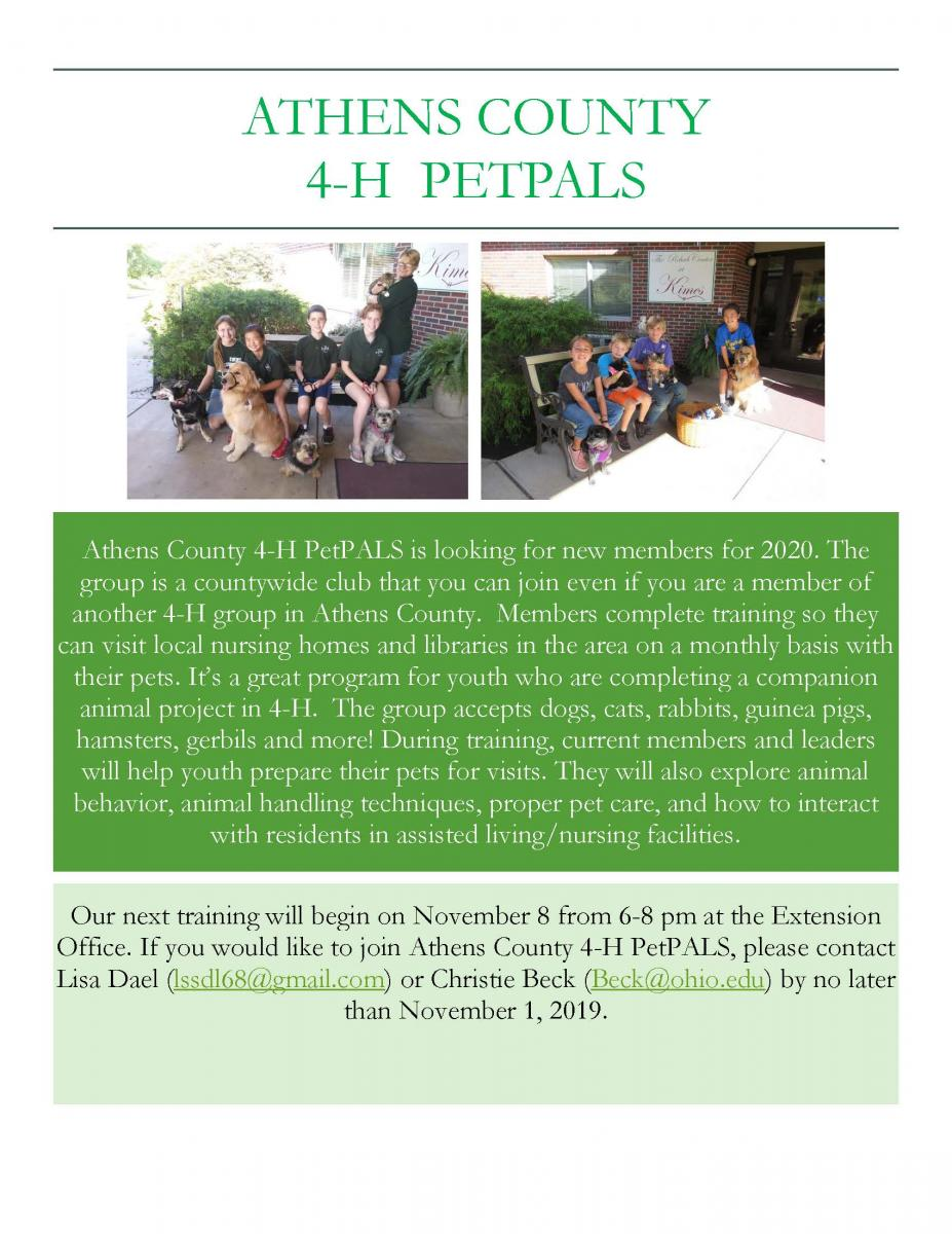 October PetPALS