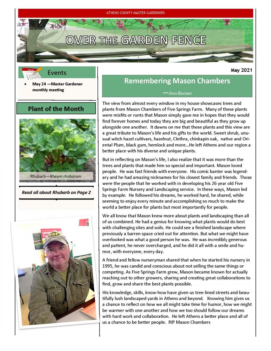 May 2021 MG Newsletter